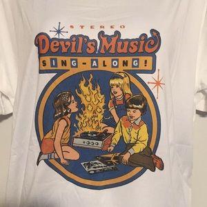 Tops - Devils Music T Shirt tee shirt